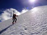 Climbing the glacier