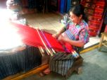 Ana working her loom - Antigua, Guatemala