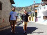 Paddy and Austin in San Pedro, Guatemala