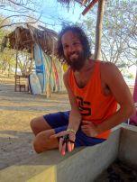 One proud father - Playa Hermosa, Nicaragua