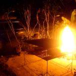 Open fire BBQ