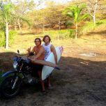 Two boys, one bike