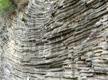 Horizontal columnar basalt